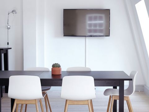 Conference room with television