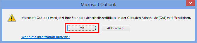 Outlook 2013 E-Mail encryption - Trust Center