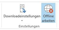 Outlook 2013 Offlinemodus aktiv