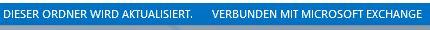 Outlook 2013 Statuszeile Verbunden mit Microsoft Exchange