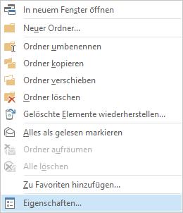Open Outlook Public Folder Permissions