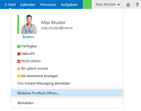 Outlook Web App Profilbild neu