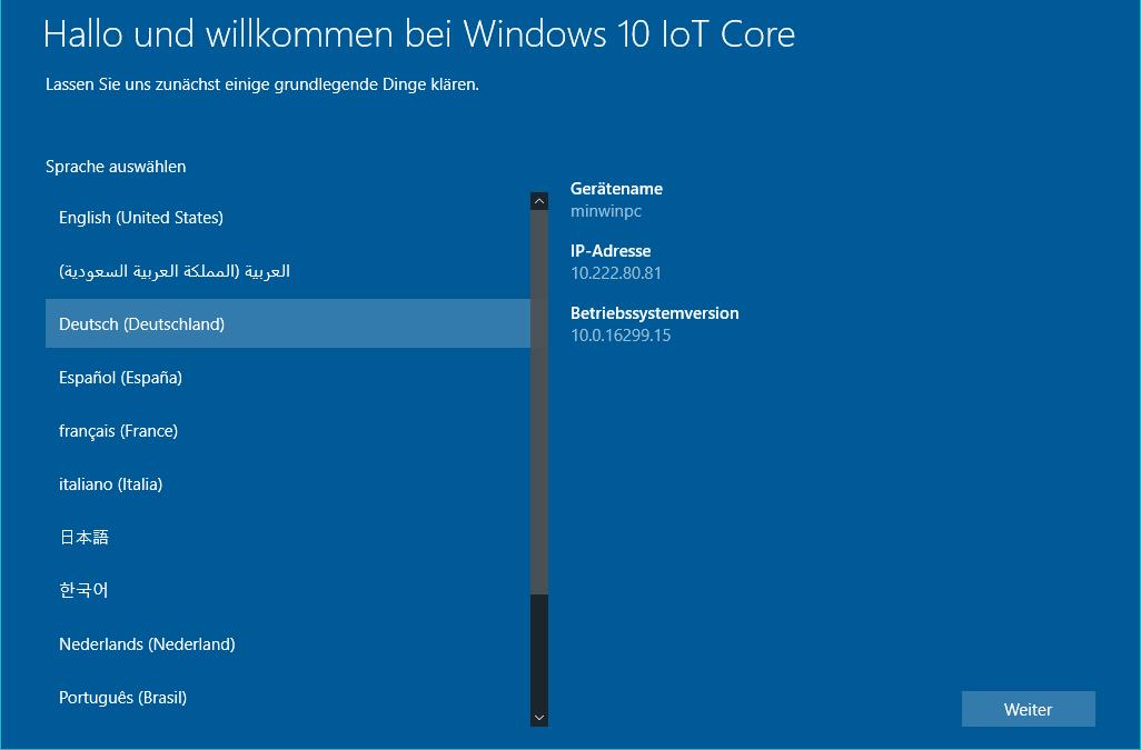 Windows 10 IoT Core auf einem Raspberry Pi 3 installieren